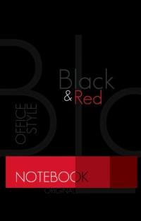 Блокнот А7 48л на склейке Офис Black & Red 1488